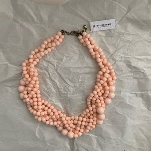 ✨ Baublebar Pink Beaded Statement Necklace ✨